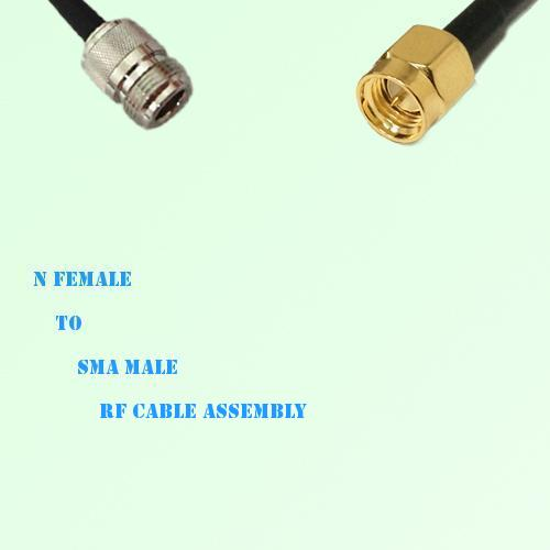 N Female to SMA Male RF Cable Assembly