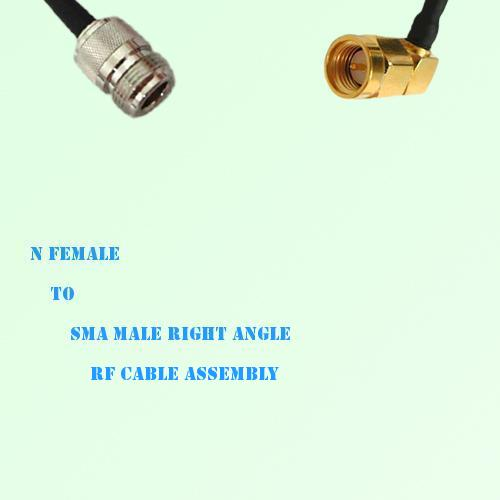 N Female to SMA Male Right Angle RF Cable Assembly