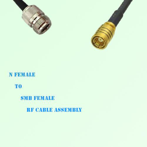 N Female to SMB Female RF Cable Assembly
