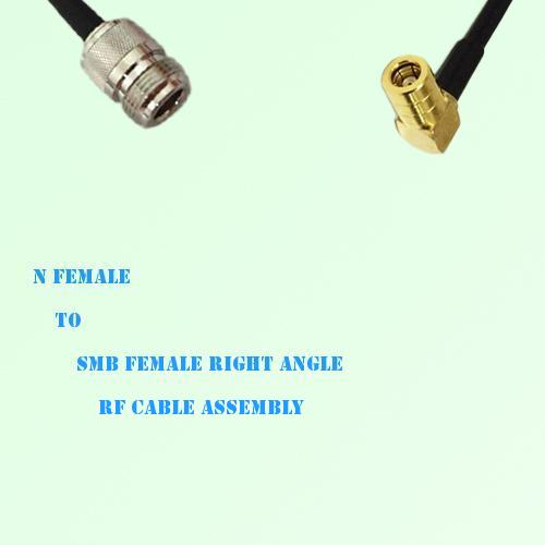 N Female to SMB Female Right Angle RF Cable Assembly