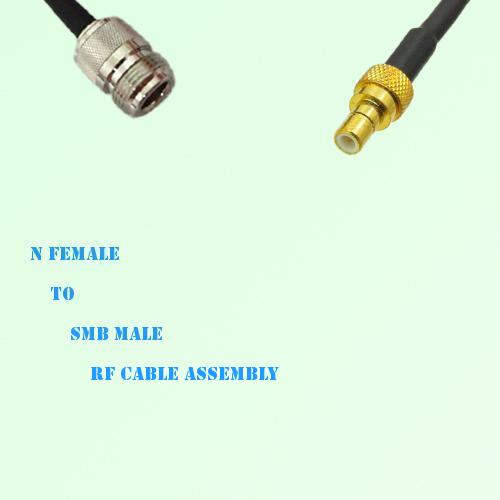 N Female to SMB Male RF Cable Assembly