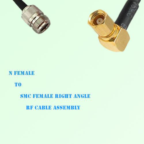 N Female to SMC Female Right Angle RF Cable Assembly