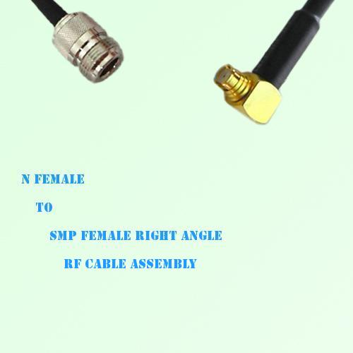 N Female to SMP Female Right Angle RF Cable Assembly