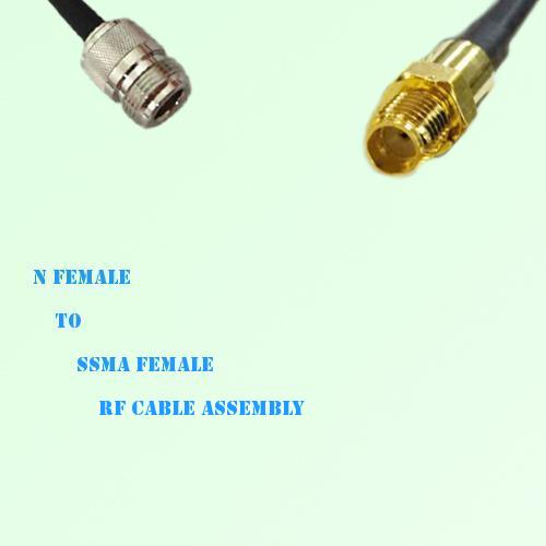 N Female to SSMA Female RF Cable Assembly