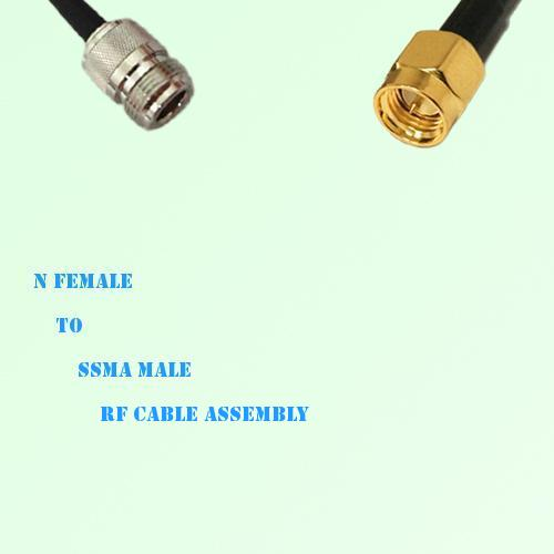 N Female to SSMA Male RF Cable Assembly