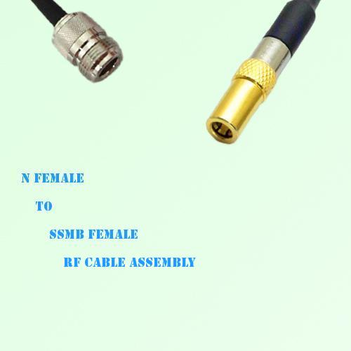 N Female to SSMB Female RF Cable Assembly