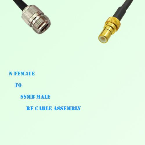 N Female to SSMB Male RF Cable Assembly