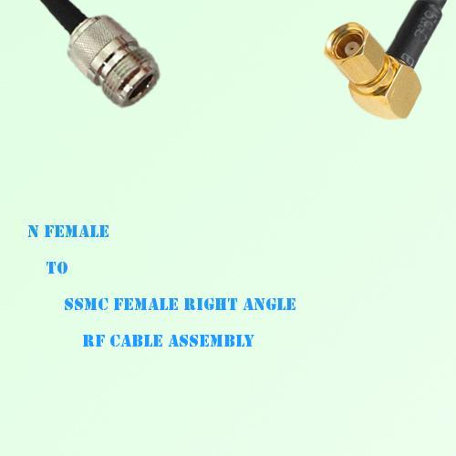 N Female to SSMC Female Right Angle RF Cable Assembly