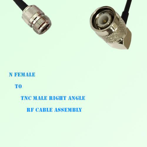 N Female to TNC Male Right Angle RF Cable Assembly