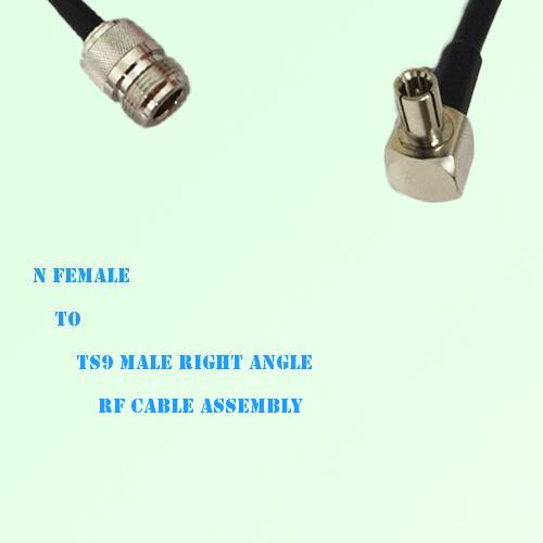 N Female to TS9 Male Right Angle RF Cable Assembly