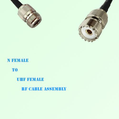 N Female to UHF Female RF Cable Assembly
