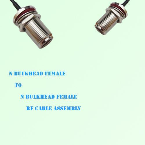 N Bulkhead Female to N Bulkhead Female RF Cable Assembly