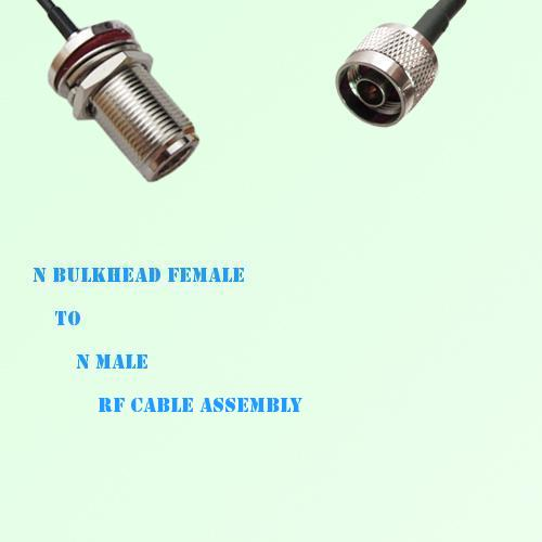 N Bulkhead Female to N Male RF Cable Assembly