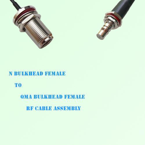 N Bulkhead Female to QMA Bulkhead Female RF Cable Assembly