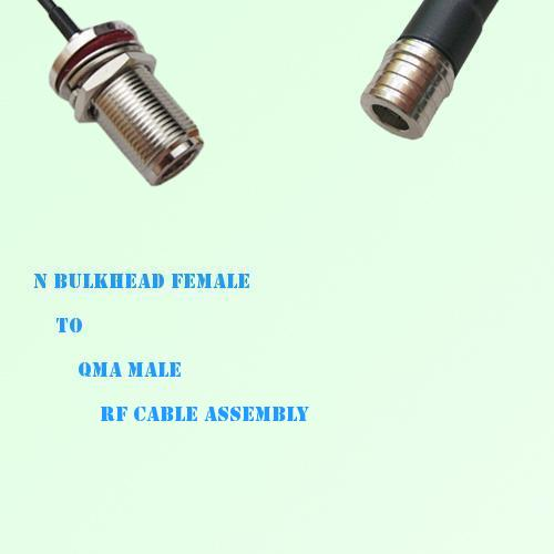 N Bulkhead Female to QMA Male RF Cable Assembly