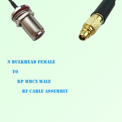 N Bulkhead Female to RP MMCX Male RF Cable Assembly