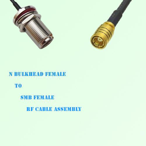 N Bulkhead Female to SMB Female RF Cable Assembly