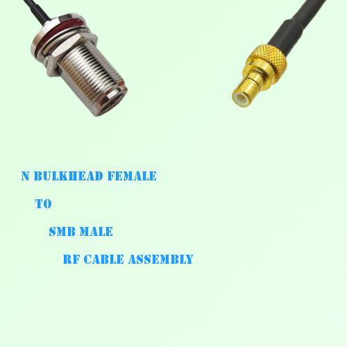 N Bulkhead Female to SMB Male RF Cable Assembly