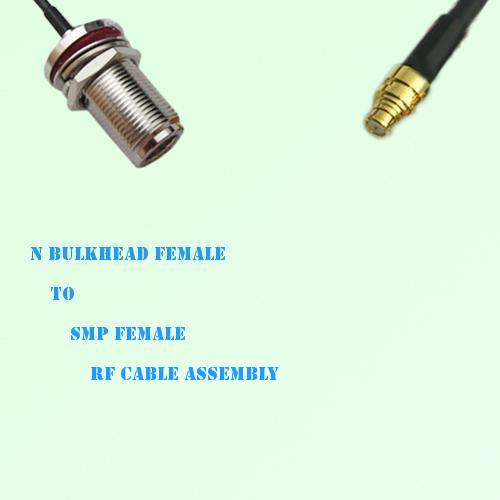 N Bulkhead Female to SMP Female RF Cable Assembly
