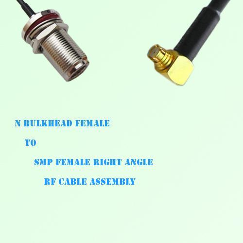 N Bulkhead Female to SMP Female Right Angle RF Cable Assembly
