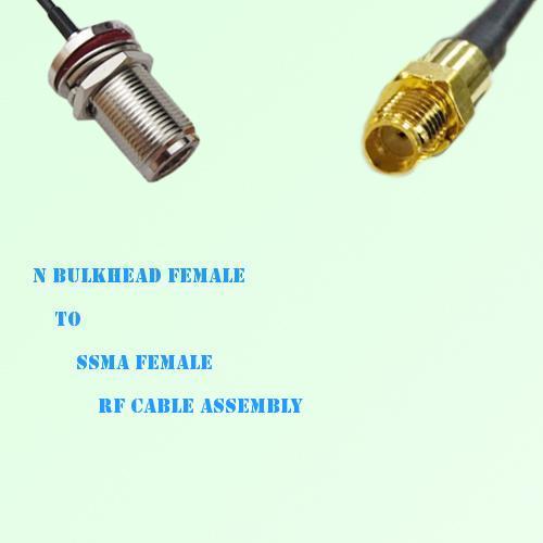 N Bulkhead Female to SSMA Female RF Cable Assembly