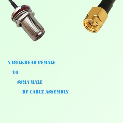 N Bulkhead Female to SSMA Male RF Cable Assembly