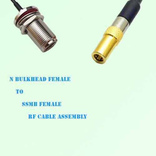 N Bulkhead Female to SSMB Female RF Cable Assembly