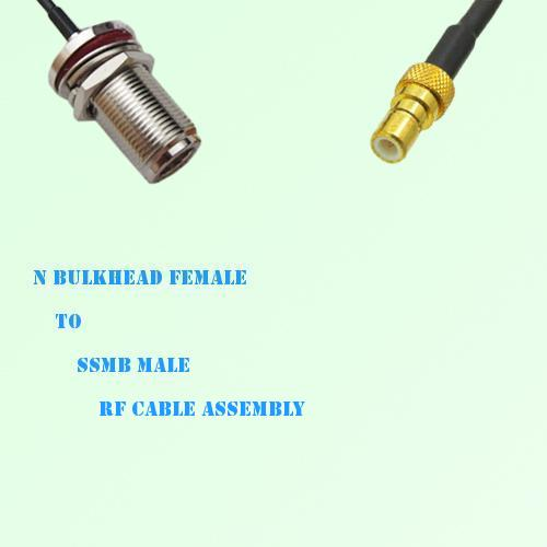 N Bulkhead Female to SSMB Male RF Cable Assembly