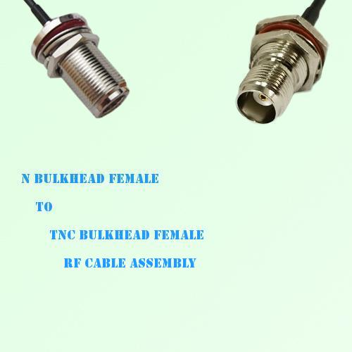 N Bulkhead Female to TNC Bulkhead Female RF Cable Assembly