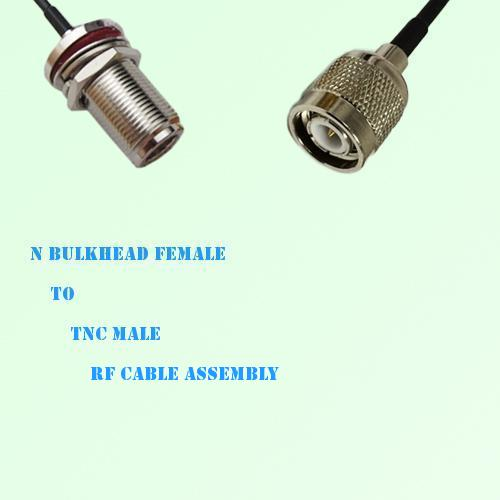 N Bulkhead Female to TNC Male RF Cable Assembly