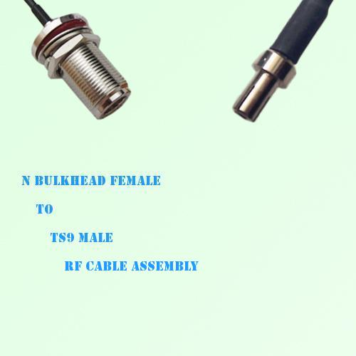 N Bulkhead Female to TS9 Male RF Cable Assembly