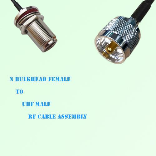 N Bulkhead Female to UHF Male RF Cable Assembly