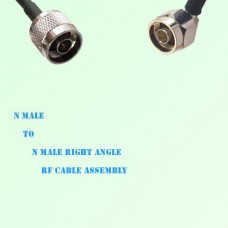 N Male to N Male Right Angle RF Cable Assembly