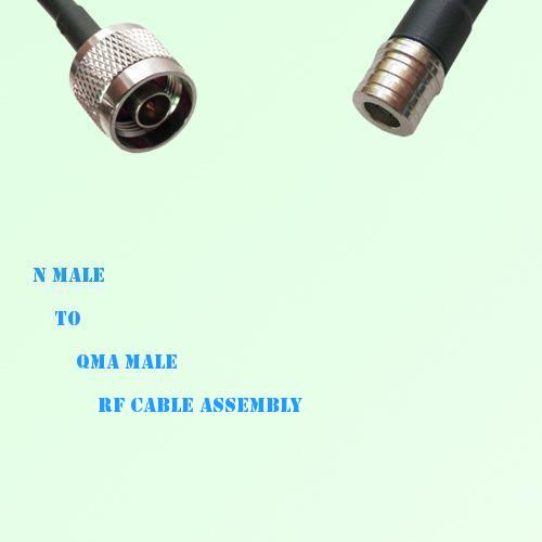 N Male to QMA Male RF Cable Assembly