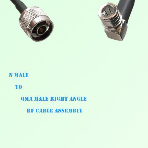 N Male to QMA Male Right Angle RF Cable Assembly