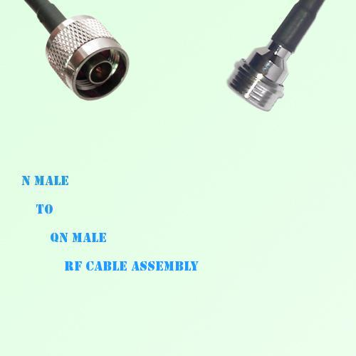N Male to QN Male RF Cable Assembly
