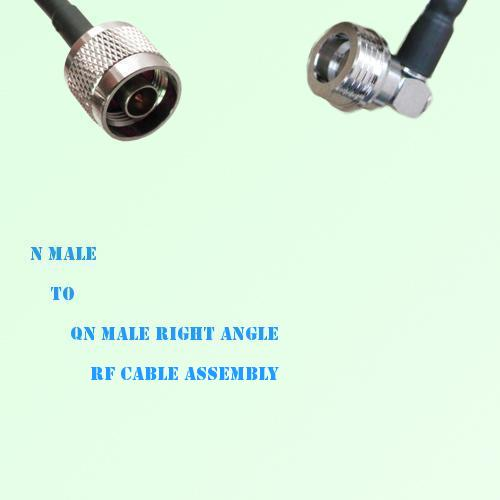 N Male to QN Male Right Angle RF Cable Assembly