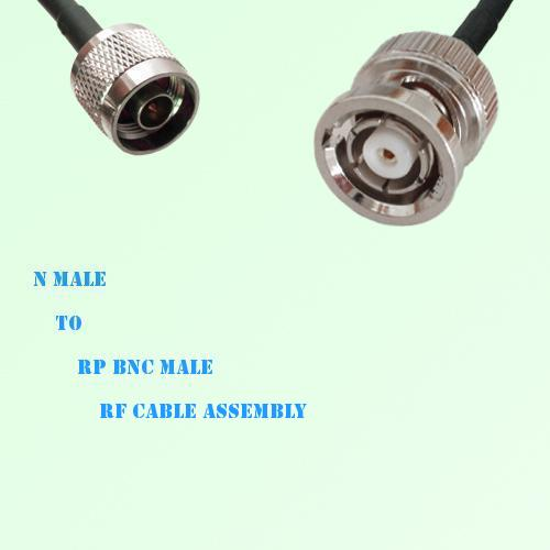 N Male to RP BNC Male RF Cable Assembly