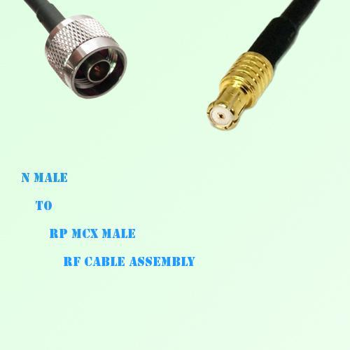 N Male to RP MCX Male RF Cable Assembly