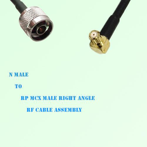 N Male to RP MCX Male Right Angle RF Cable Assembly