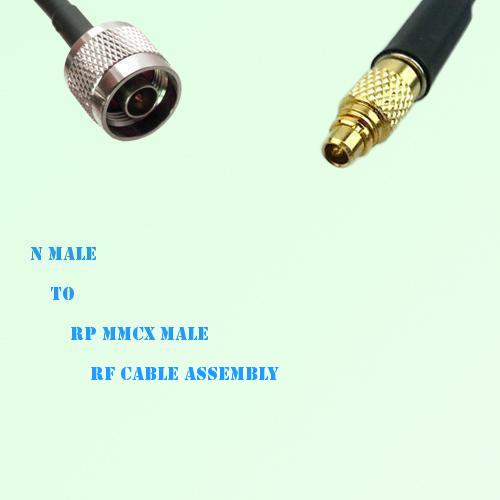 N Male to RP MMCX Male RF Cable Assembly