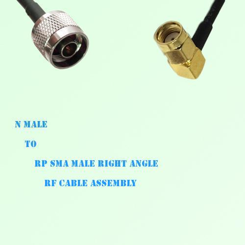 N Male to RP SMA Male Right Angle RF Cable Assembly