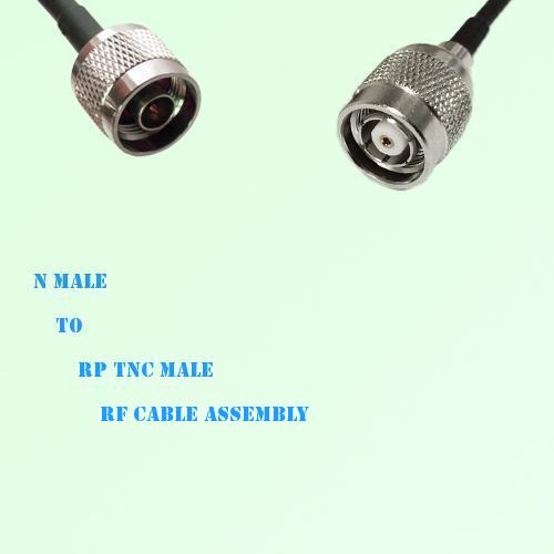 N Male to RP TNC Male RF Cable Assembly