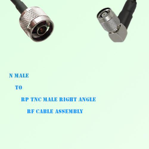 N Male to RP TNC Male Right Angle RF Cable Assembly