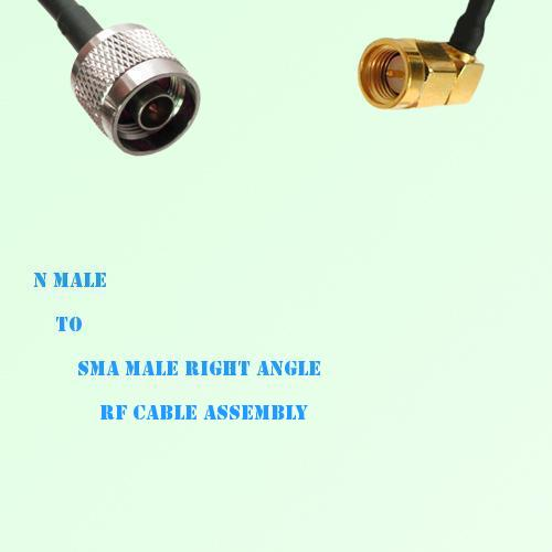 N Male to SMA Male Right Angle RF Cable Assembly