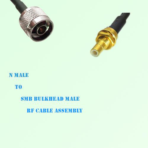 N Male to SMB Bulkhead Male RF Cable Assembly