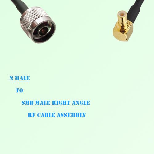 N Male to SMB Male Right Angle RF Cable Assembly