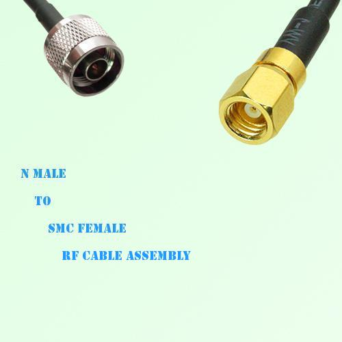 N Male to SMC Female RF Cable Assembly
