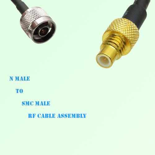 N Male to SMC Male RF Cable Assembly