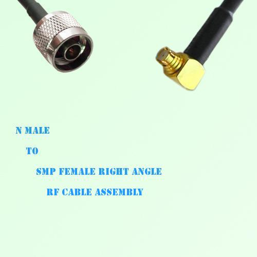 N Male to SMP Female Right Angle RF Cable Assembly